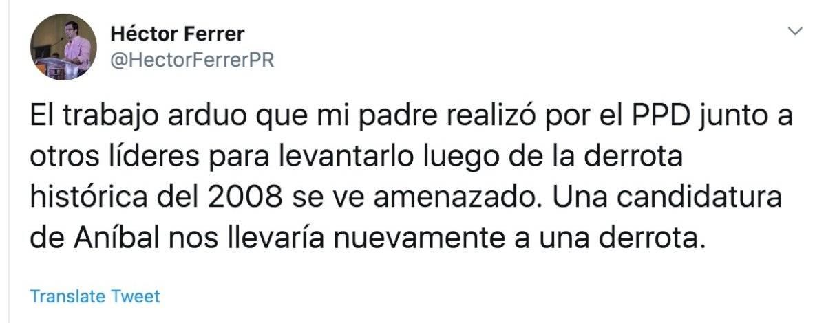 Hijo Héctor Ferrer