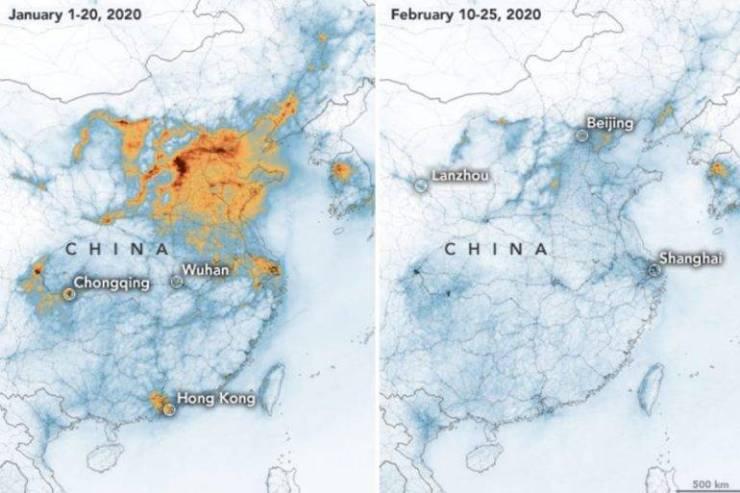 Coronavirus China contaminación