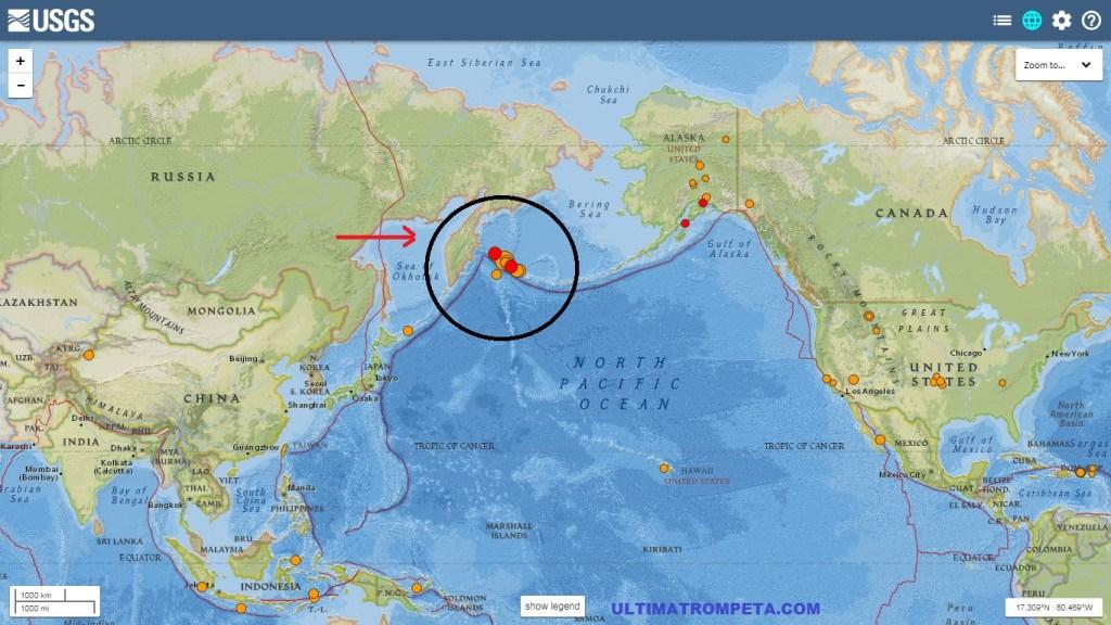 Terremoto de 7.8 Richter afectó a Rusia en las últimas horas