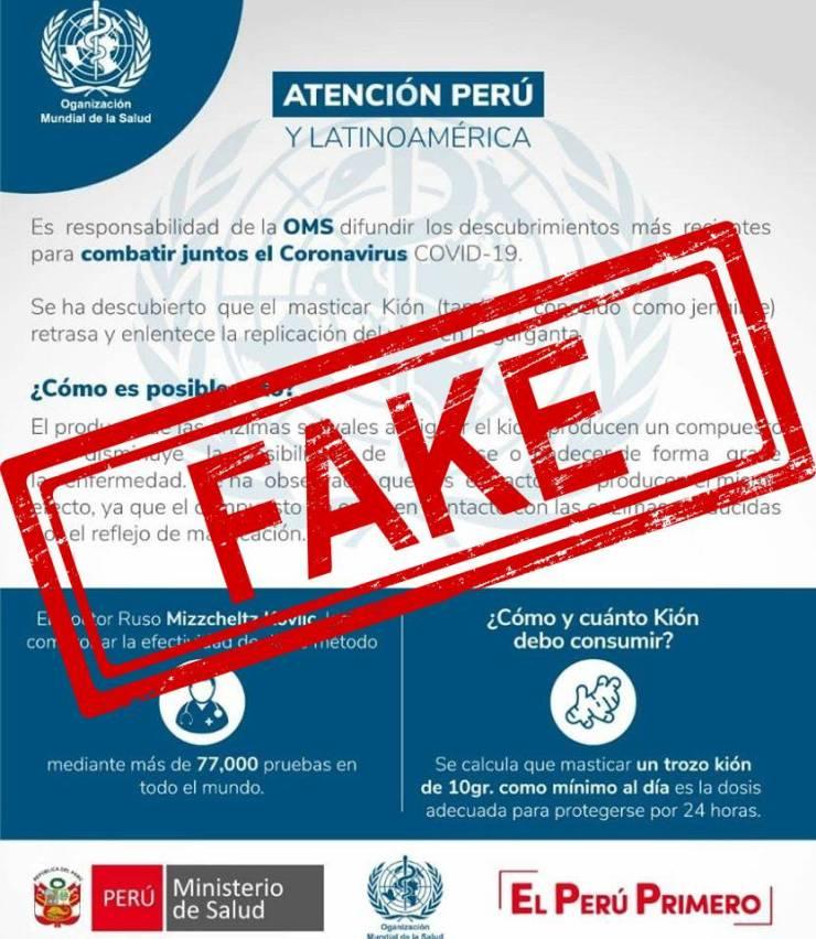 Coronavirus jengibre fake news