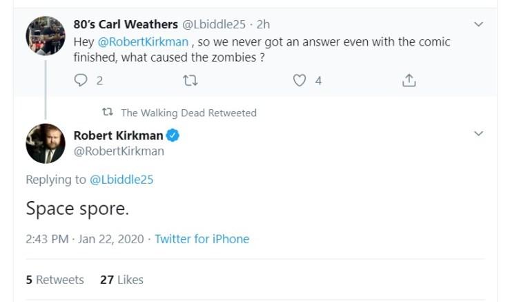 The Walking Dead origen