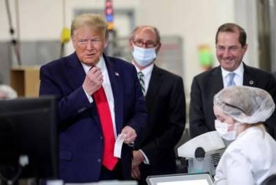 Trump sin mascarilla contra el COVID-19