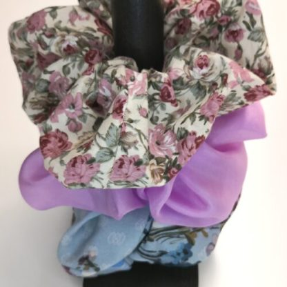 Scrunchies i 3-pack, Blommigt