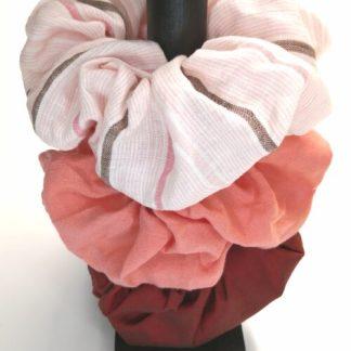 Scrunchies i 3-pack, Rosa