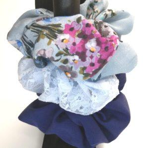 Scrunchies i 3-pack, blå
