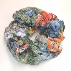 Scrunchie pastell flerfärgad spets