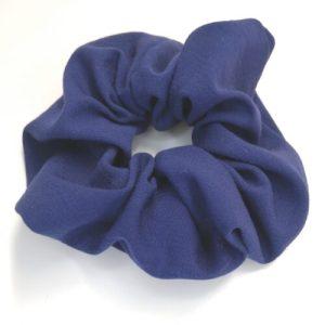 Scrunchie mörkblå viscose-polyester