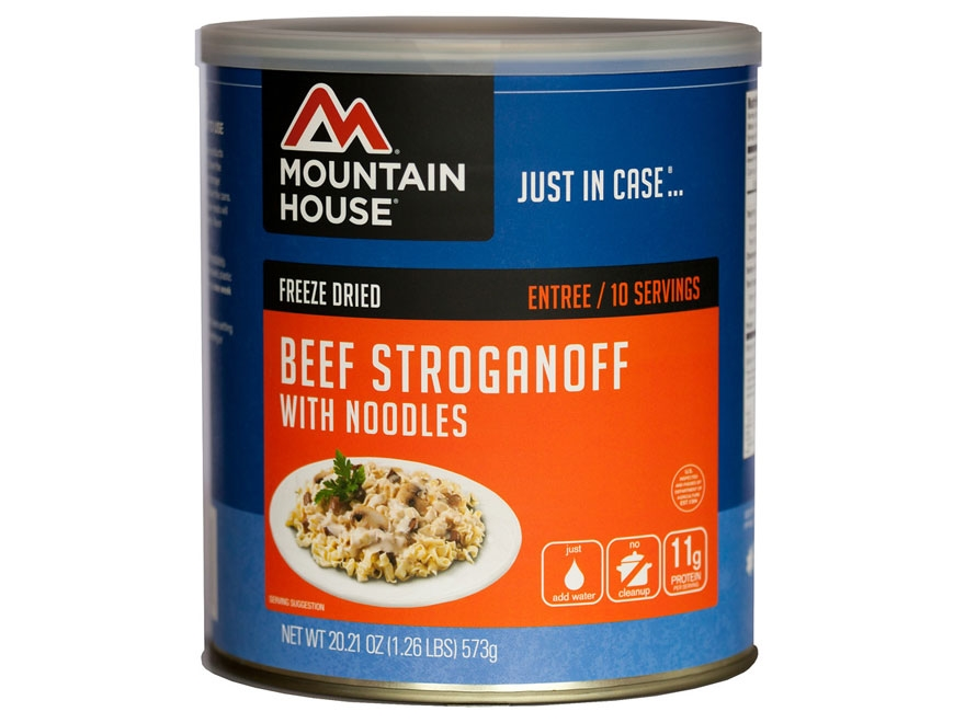 Mountain House 10 Serving Beef Stroganoff Noodles Freeze