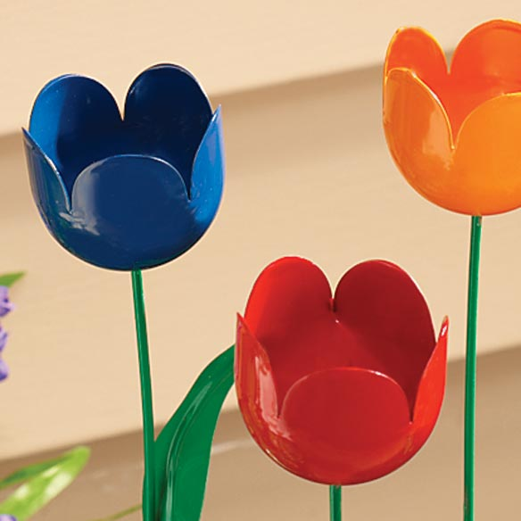 Artificial Tulip Outdoor Gardening Amp Auto Miles Kimball
