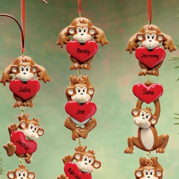Monkey Ornament Monkey Christmas Ornaments Miles Kimball