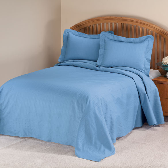 Solid Plisse Bedspread Bedspread Sets Miles Kimball