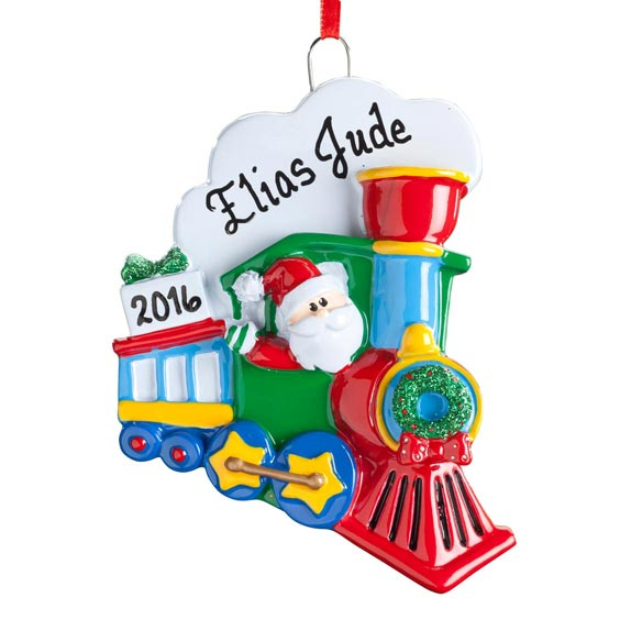 Personalized Santa Train Ornament Christmas Ornament
