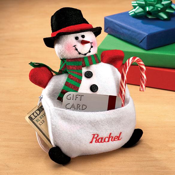 Money Gift Card Holder Snowman Gift Card Holder Miles