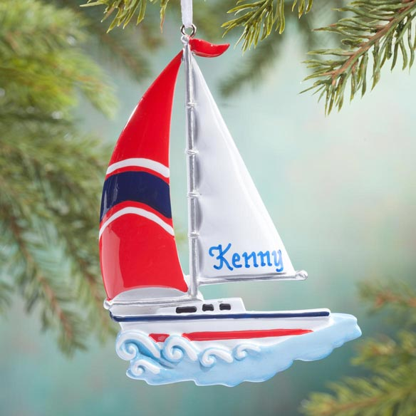 Personalized Sailboat Ornament Christmas Ornament