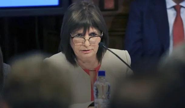 Patricia Bullrich, ministra de Seguridad<br>
