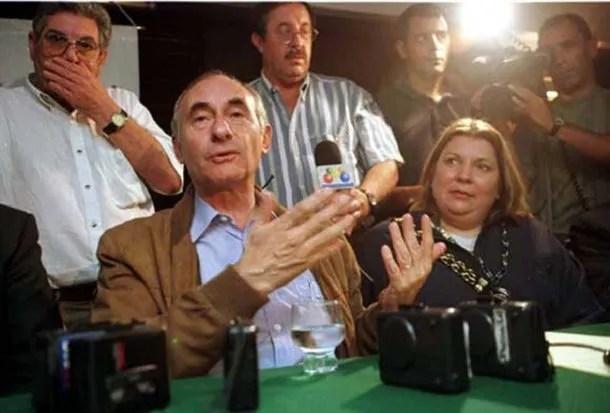 Fernando De la Rúa y Elisa Carrió<br>