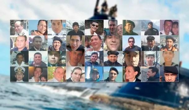 Éstos son los 44 tripulantes del submarino ARA San Juan