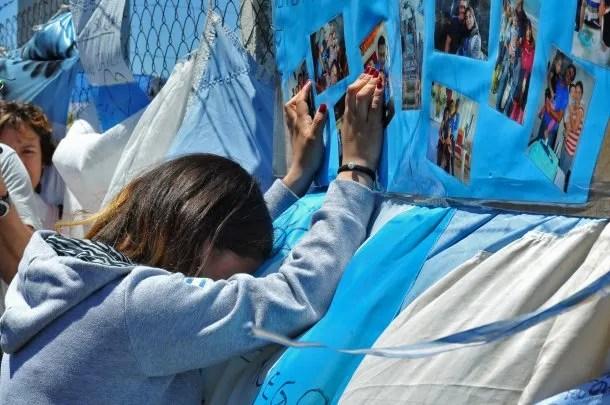 El dolor de una de las familiares de los tripulantes del ARA San Juan