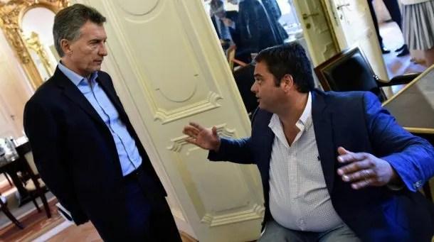 Mauricio Macri y Jorge Triaca<br>