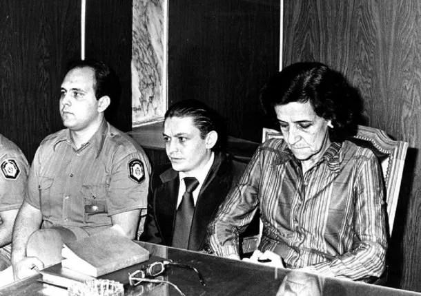 Robledo Puch en el juicio oral en su contra, en 1980.