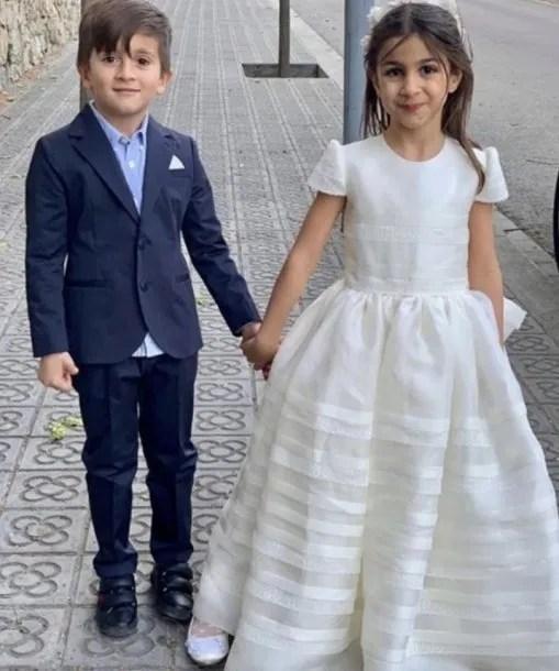 Thiago Messi y Lia Fabregas