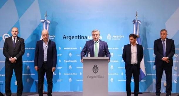 Como en la primera conferencia de prensa cuando anunció el inicio de la cuarentena, el presidente Alberto Fernández estará acompañado por Axel Kicillof y Horacio Rodríguez Larreta