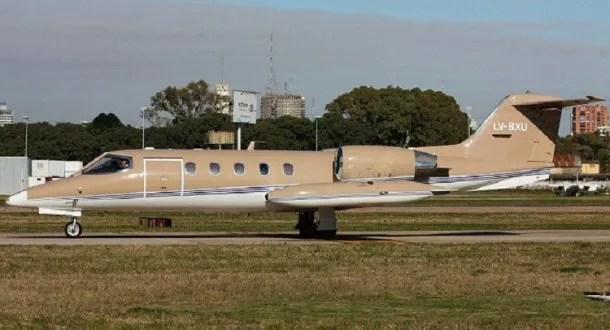 Learjet 35 matrícula LV-BXU es el avión que se estrelló cerca del aeropuerto de Esquel