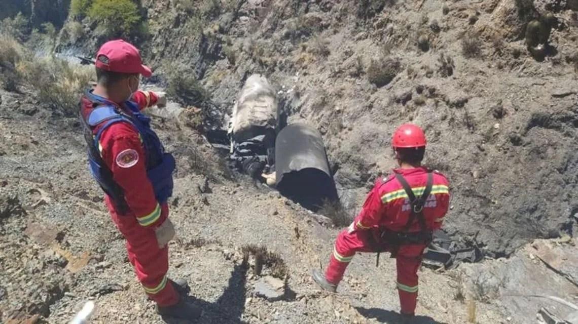 Dos argentinos que transportaban oxígeno medicinal murieron calcinados en un accidente