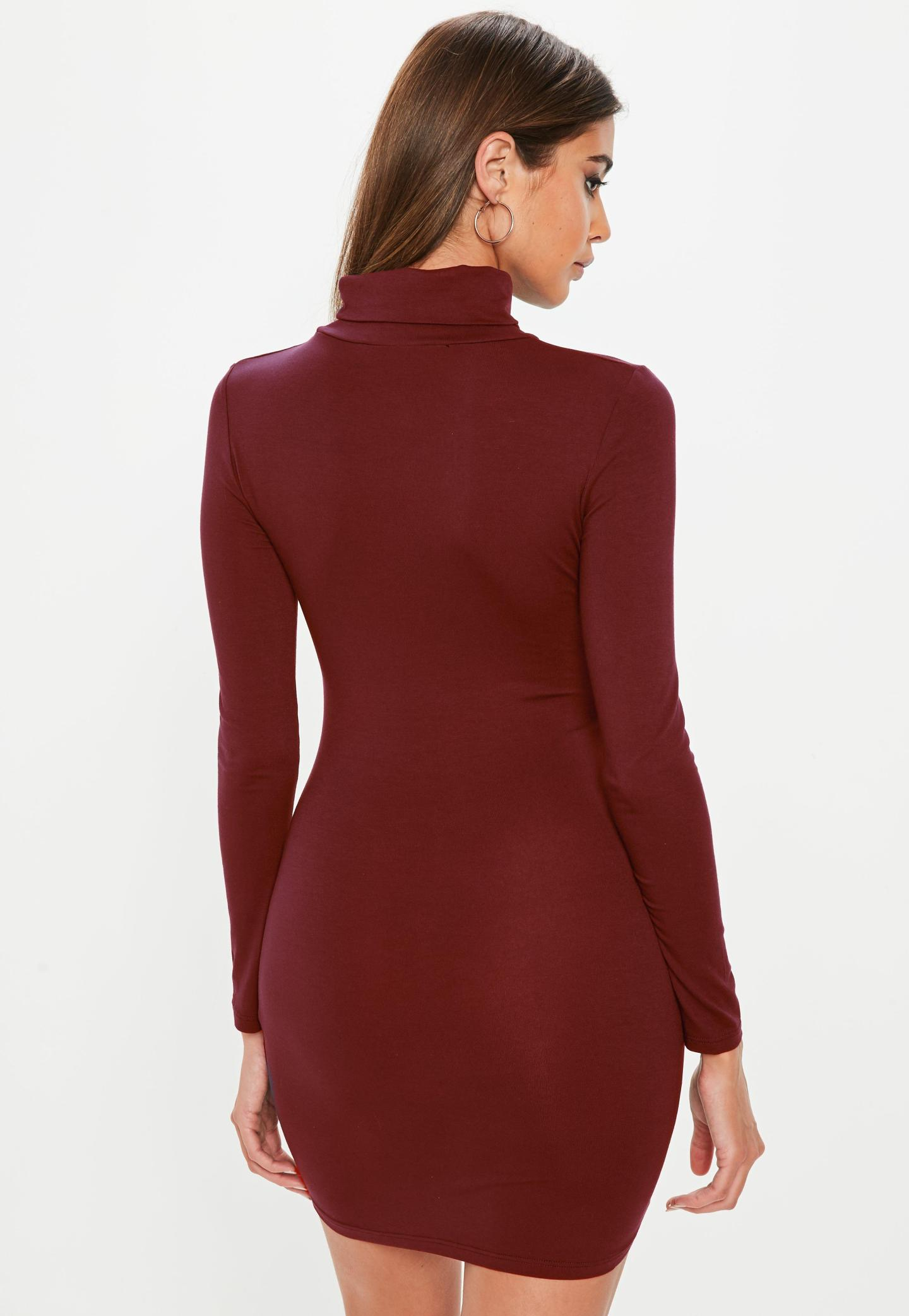 Missguided Roll Neck Bodycon Dress