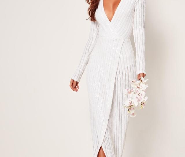 Wrap Maxi Dress White Previous Next