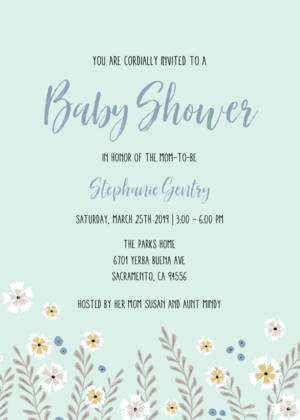 Baby Boy Shower Invitation Templates