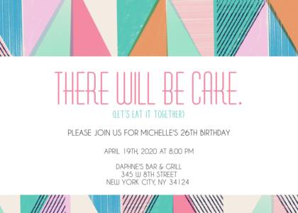 colorful geometric birthday invitation girls birthday party invitations