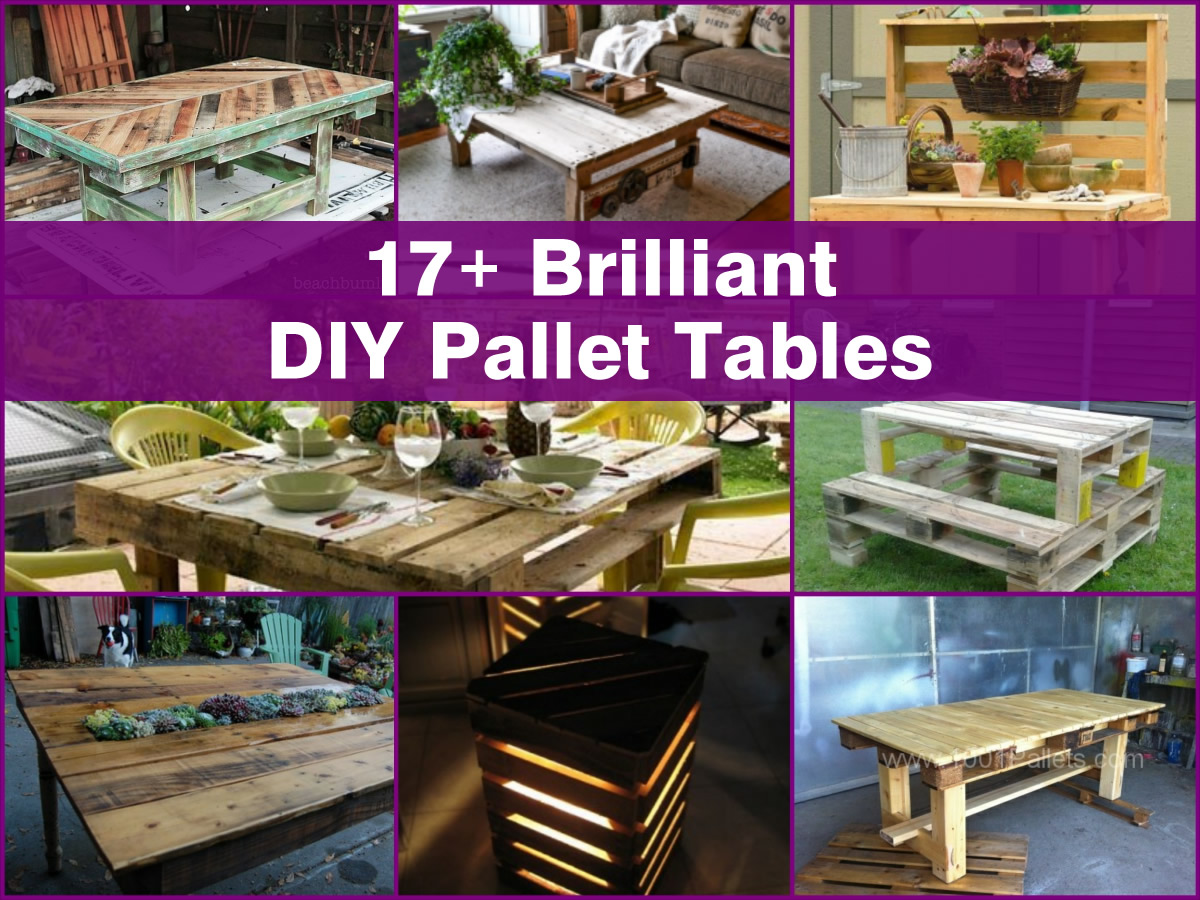 17 Brilliant DIY Pallet Tables