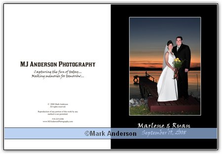 Marlene and Ryans preliminary wedding book layout!