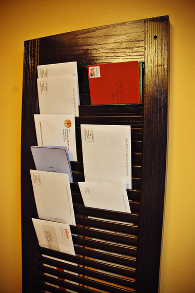 DIY Project Shutter Mail Organizer