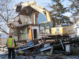 Demolition of the house at 3145 S. Washington in Saginaw