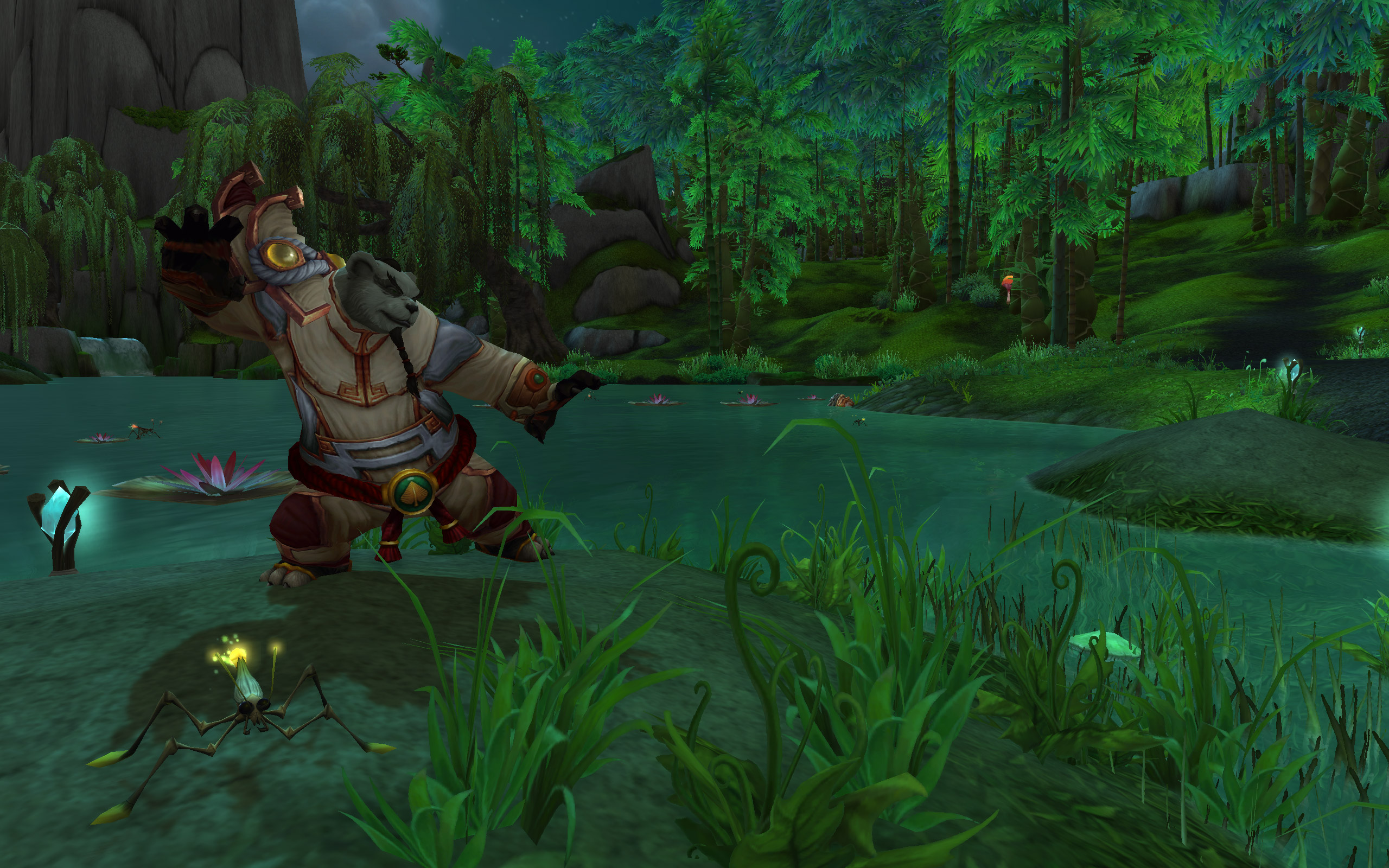 A Pandaren monk in Mists of Pandaria
