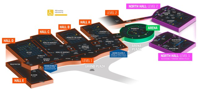 Blizzcon 2018 floor-plan