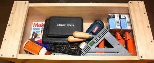 Photo of wood toolbox