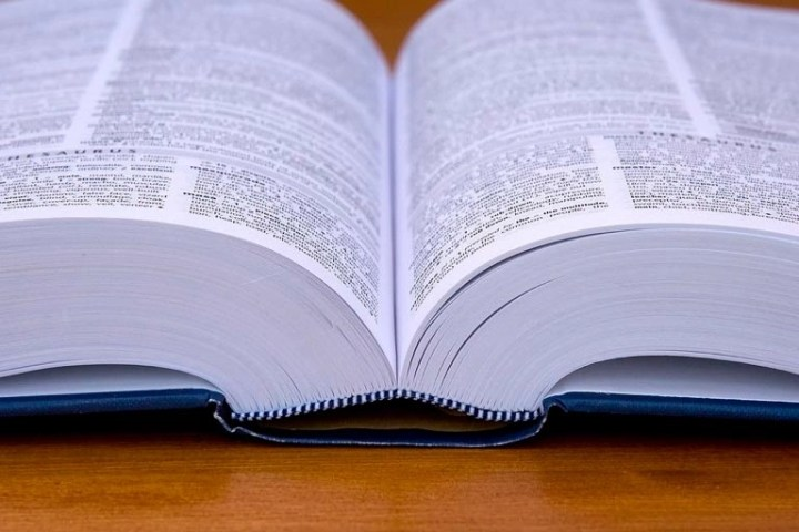 Photo of a dictionary representative of content marketing terms glossary.