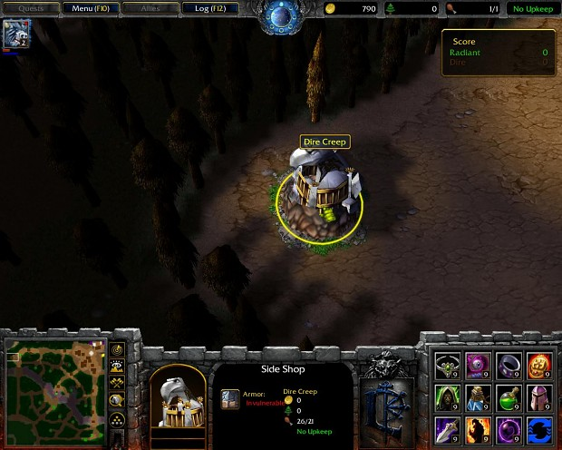 In Game Screenshots Image Dota 2 Remake 3vs3 Mod For Warcraft III Frozen Throne Mod DB