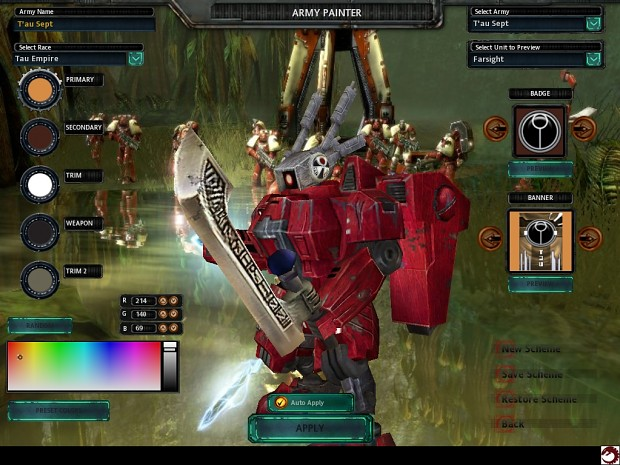 Commander Farsight Image Eternal Confrontation Mod For Dawn Of War Mod DB