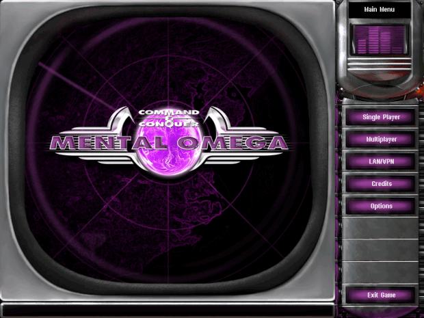 3 0 Main Menu Screen Image Mental Omega Mod For C Amp C