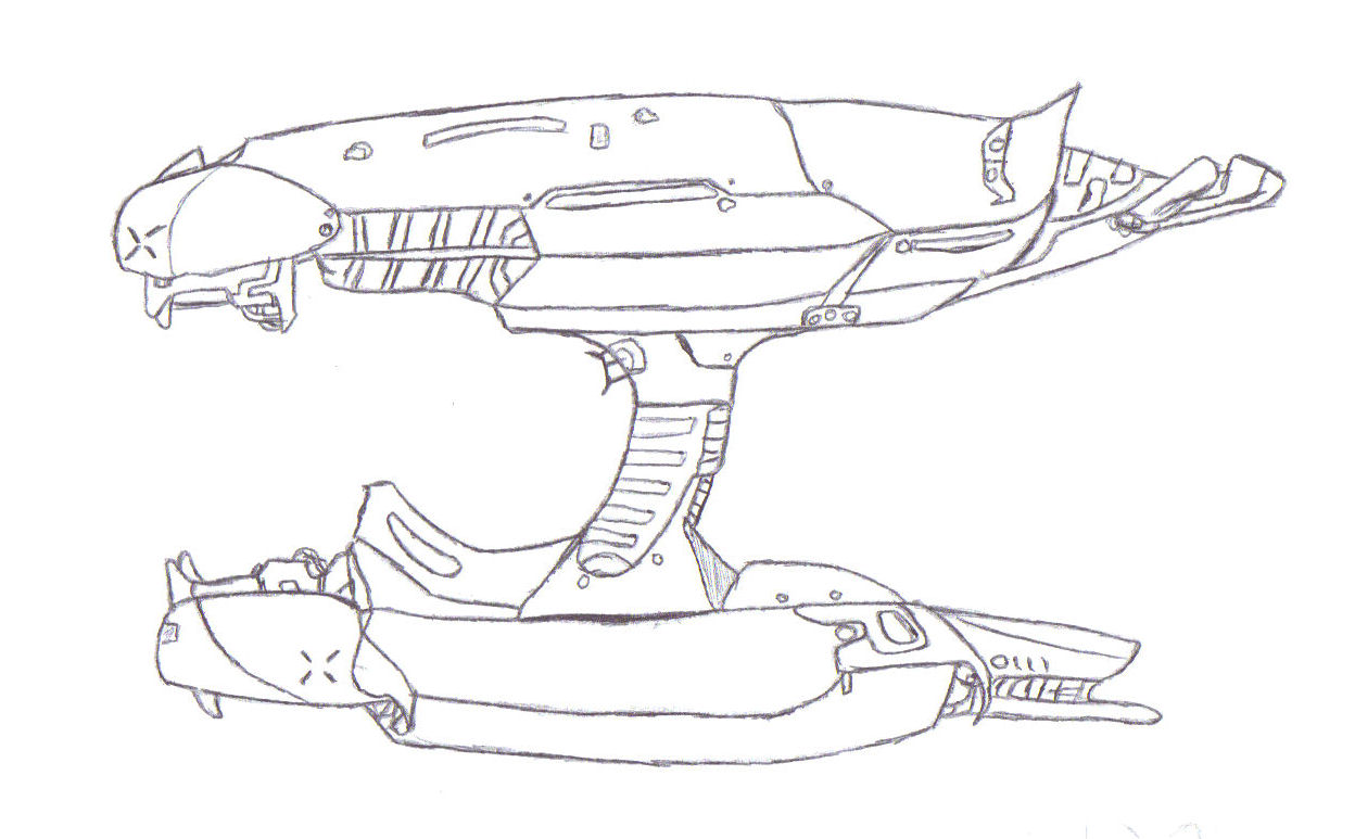 Plasma Rifle Side Drawing Image