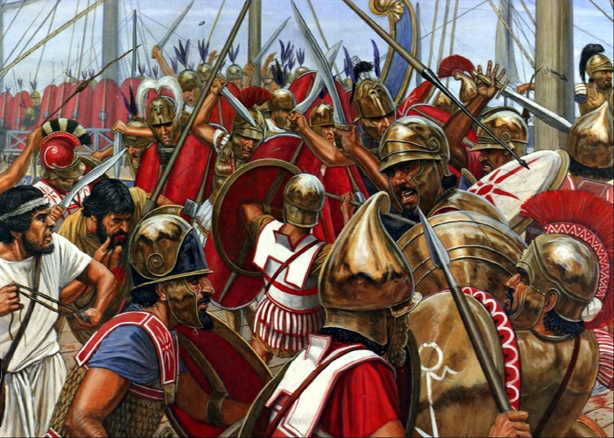 Romans Fighting Carthaginians Image Ancient Weapon