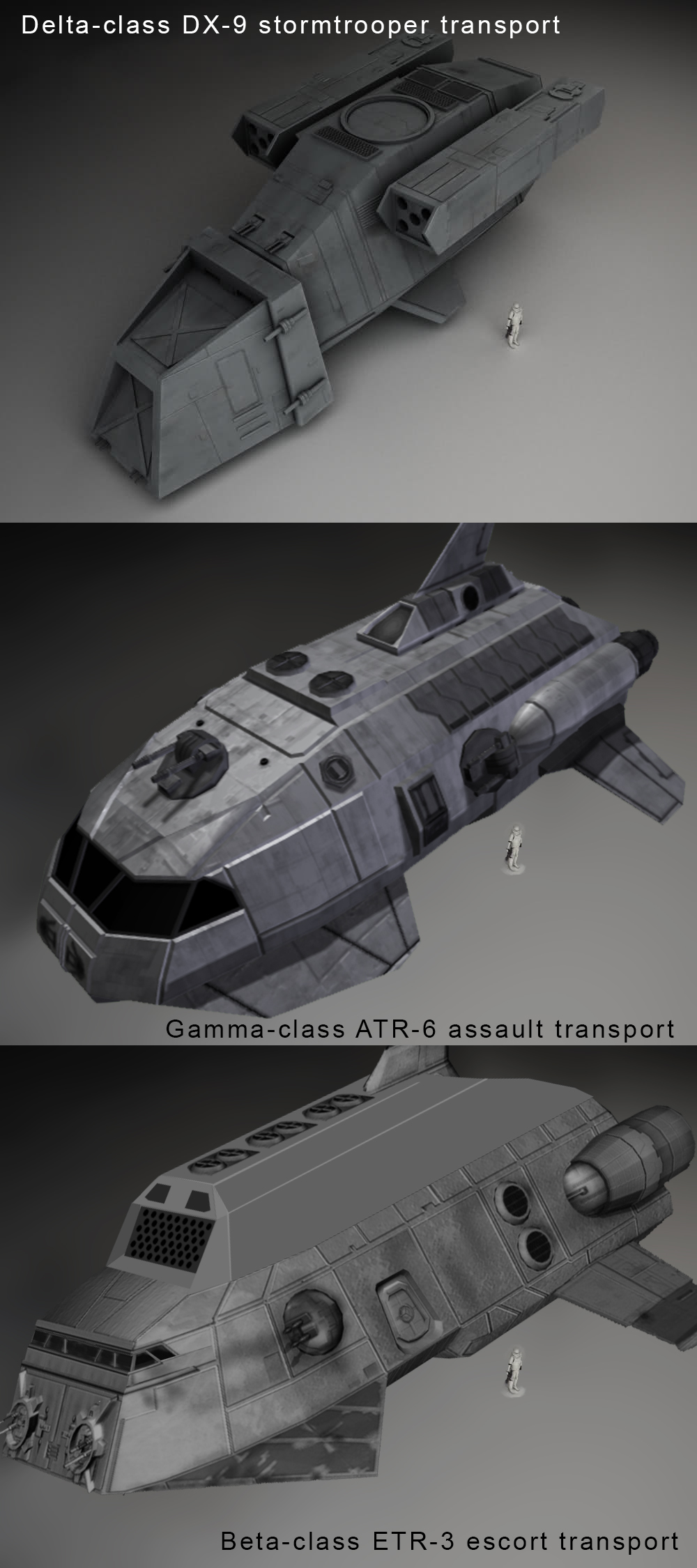 Beta Class ETR 3 Escort Transport Concept And Size Comparison Image Star Wars Empire At War