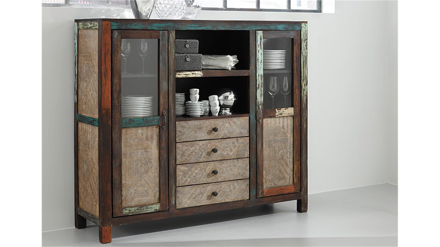 Highboard Massivholz Excellent Wohnling Sideboard Mumbai