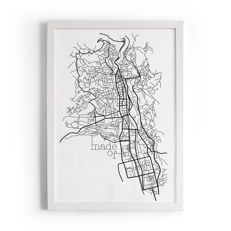 Sarajevo Map Molimao - Art Print