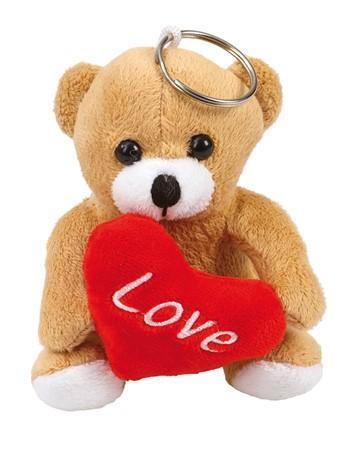 """Presentpåse: Plush Bear """"LOVE"""" 10 cm (FRI FRAKT)"""