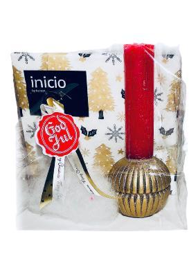 Presentpåse julklapp - Servetter och ljus